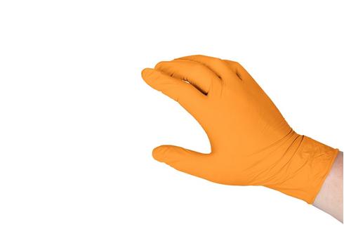 Перчатки нитриловые SAFETOUCH ADVANCED ORANGE (ОРАНЖЕВЫЕ)