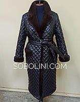 Пальто з норкою, фото на манекені, фото 1