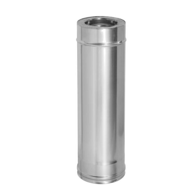 Труба сэндвич VERSIA-LUX нерж./нерж. Ø120/180мм - 300/360мм х 0.5/1.0м  0.5м, 0.6 мм, 160/220 мм