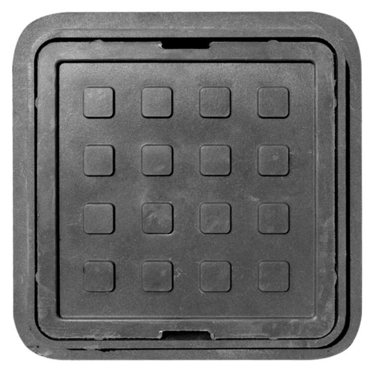 """Люк полимерпесчаный квадратный """"Garden"""" Ø32х32см (черный)"""