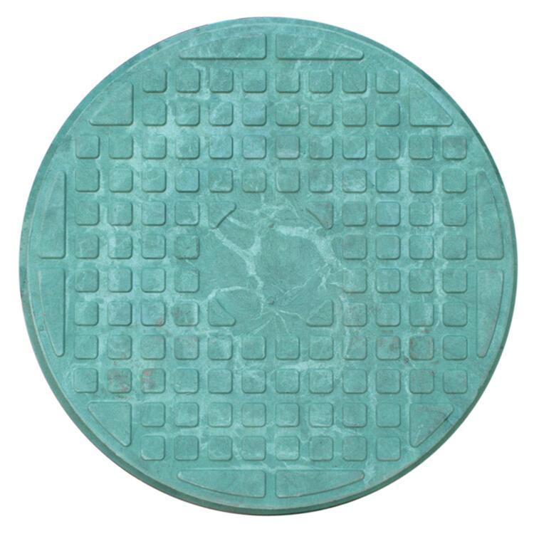 """Люк полимерпесчаный круглый """"Garden"""" Eco Ø68см (зеленый) до 1т."""