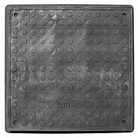 """Люк полимерпесчаный квадратный """"Garden"""" Ø60х60см (черный) до 1.5т."""