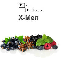 Жидкость Pro Flavors X-Men (Смородина, лесные ягоды, анис, мята) 100 мл.
