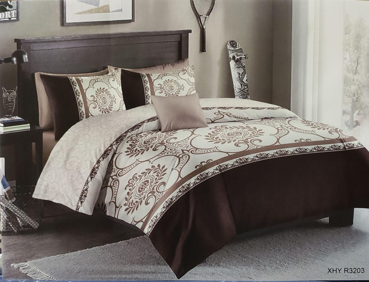 Бязевый комплект постельного белья полуторный размер, 150/200 см