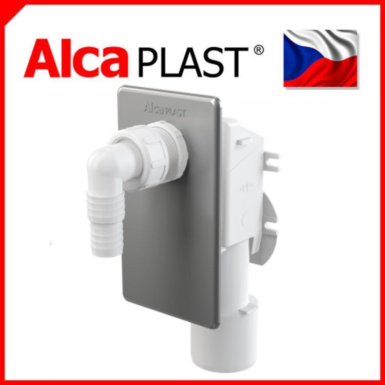 Сифон для стиральной машины под штукатурку хромированный Alca Plast APS3