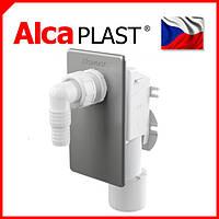 Сифон для стиральной машины под штукатурку хромированный Alca Plast APS3, фото 1