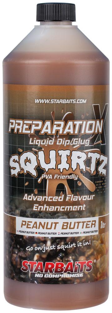 Ликвид Starbaits Prep X Squirtz Peanut Butter 1L