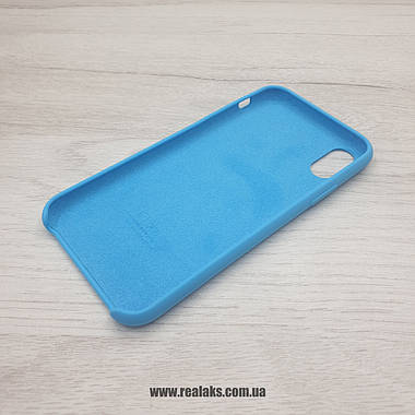 Чохол Silicone Case для Apple iPhone X / Xs blue, фото 3