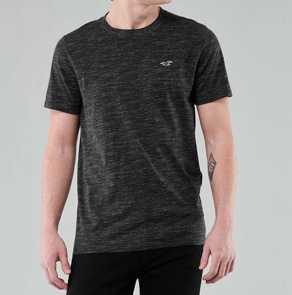 Фирменная хлопковая футболка Hollister Must-Have черная