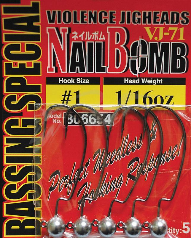 Джиг головка Decoy Nail Bomb VJ-71 #1/0 3.5g (5шт/уп)