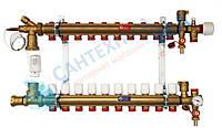 Сборный коллекторный узел с обвязкой 1'' GIACOMINI (R557Y008) 10 ВЫХОДОВ