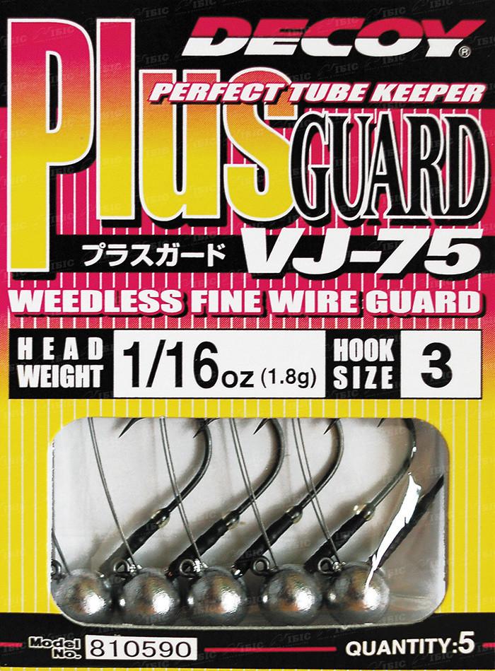 Джиг головка Decoy Plus Guard VJ-75 #3 0.6g (5 шт/уп)
