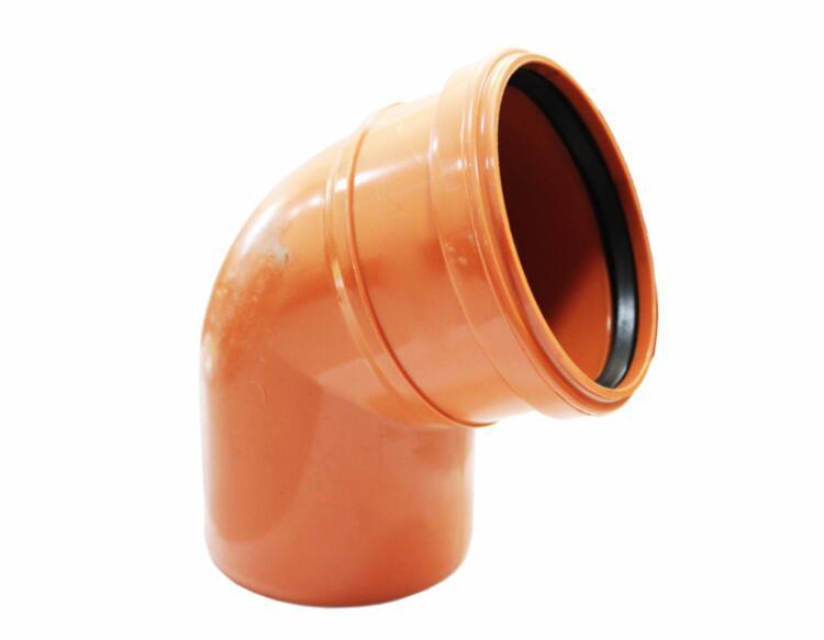 Отвод рыжий ИНСТАЛ-ПЛАСТ 110х67°