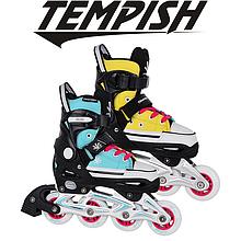 Детские раздвижные роликовые коньки Tempish Magic Rebel, желто-голубые