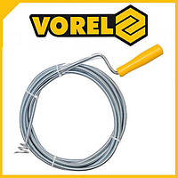 Трос сантехнический для прочистки канализации VOREL (55544) Ø9мм х 10м