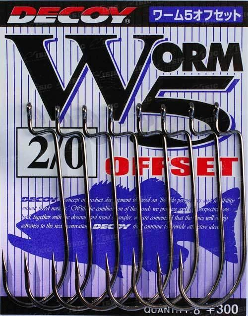 Крючок Decoy Worm5 Offset #2 (9 шт/уп)