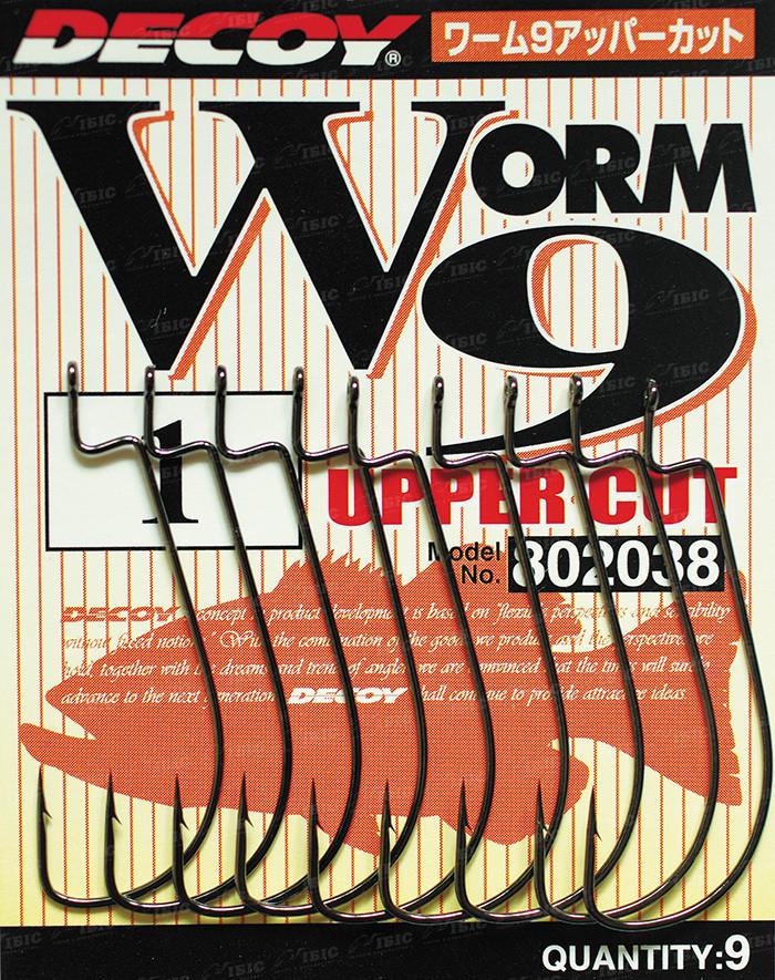Гачок Decoy Worm9 Upper Cut #1 (9 шт/уп)