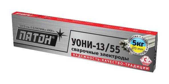 Сварочные электроды ПАТОН УОНИ-13/55 Ø4мм 5кг