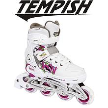 Детские раздвижные роликовые коньки Tempish Twin, белые