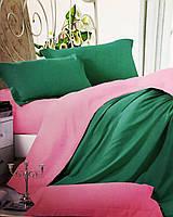 Однотонный комплект постельного белья, евро размер, сатин