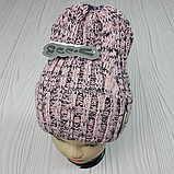М 94051. Шапка с отворотом женская, подростковая, разние цвета, размер универсальный, фото 3