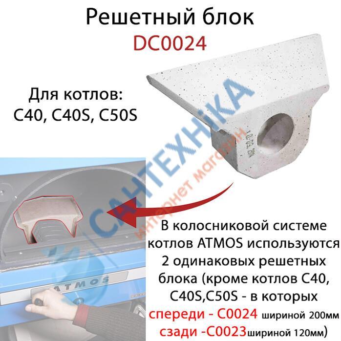 Решетный керамический блок для твердотопливного котла (дрова-уголь) ATMOS C0024