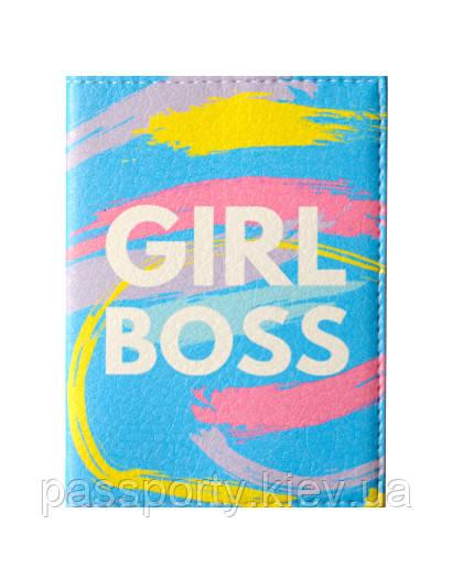 Обложка на паспорт Girl Boss