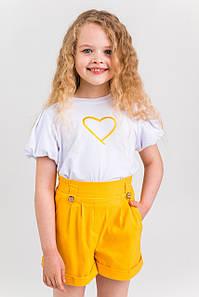 Шорты для девочки коттоновые Паула жёлтый(140-152)р (Suzie)Сьюзи Украина ШР-25001