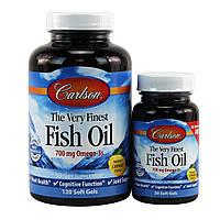 Рыбий жир Carlson Labs Fish Oil Лимон 700 мг 150 капсул 33870, КОД: 1536183