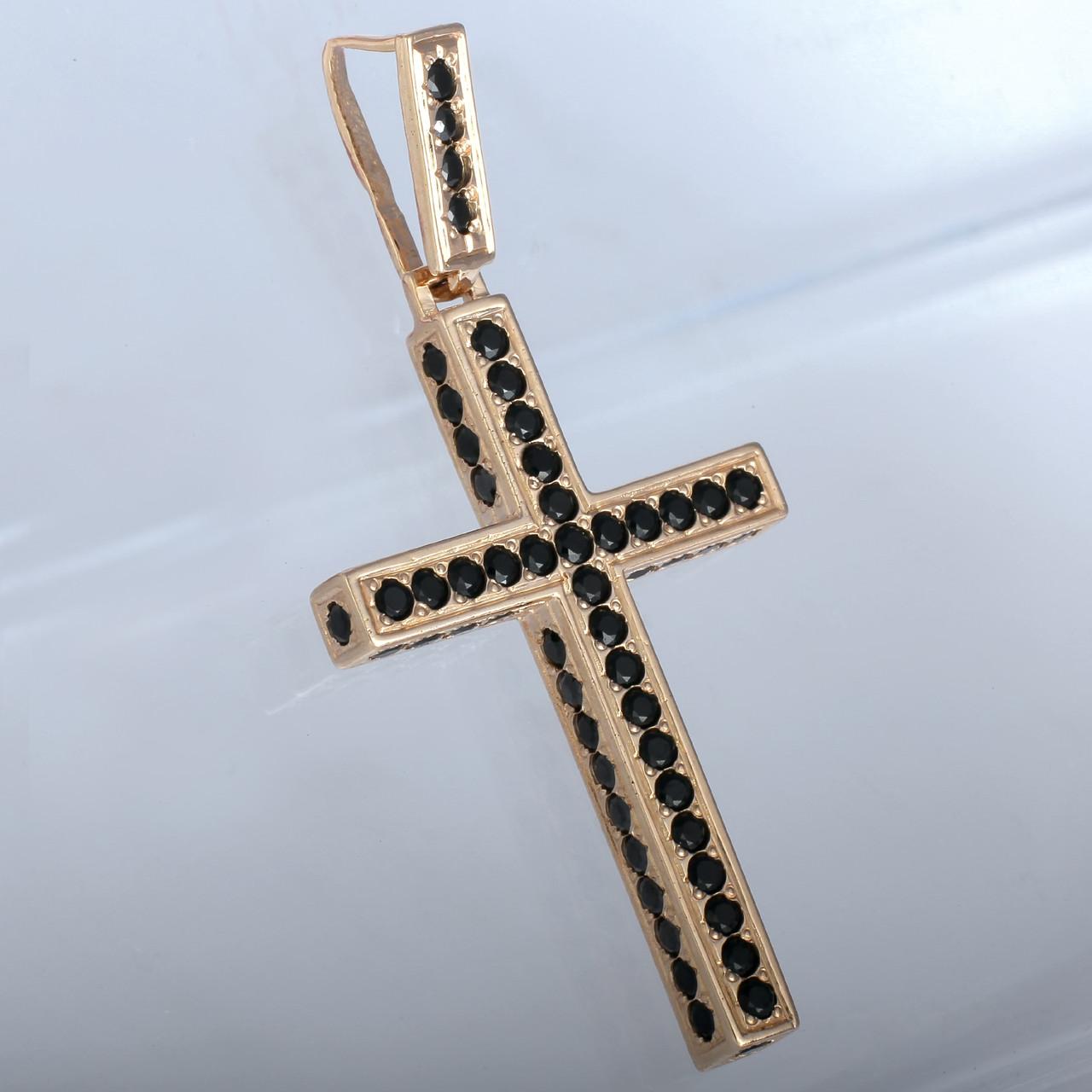 Золотий хрестик з фіанітами. ГП50035