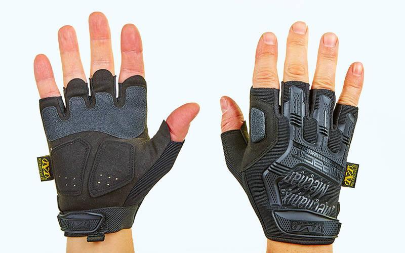 Мотоперчатки Mechanix Mpact 3 без пальців Original Black
