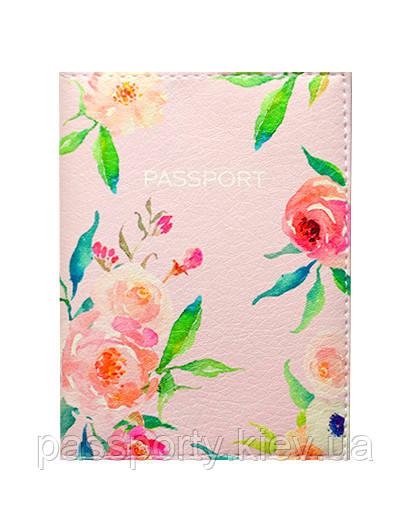 Обложка на паспорт Цветы Нежность