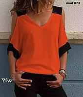 Блуза женская летняя норма и батал, фото 1