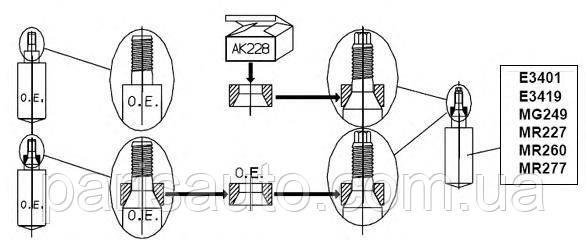 Амортизатор передний Пежо 106 Ситроен саксо Peugeot 106 AV передний картридж (5202L6)