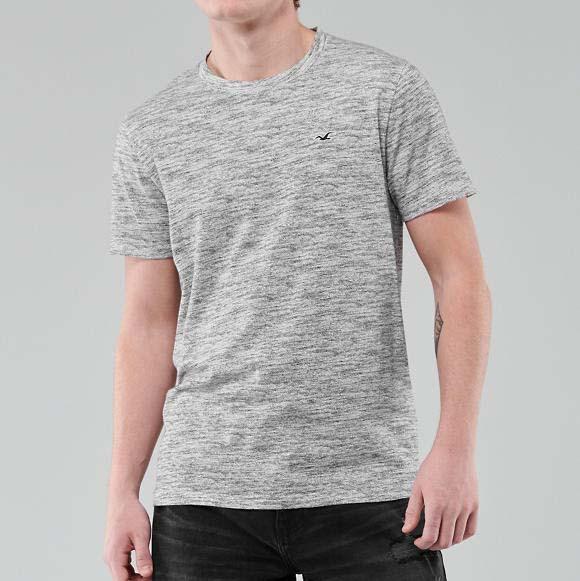 Фирменная хлопковая футболка Hollister Must-Have серая