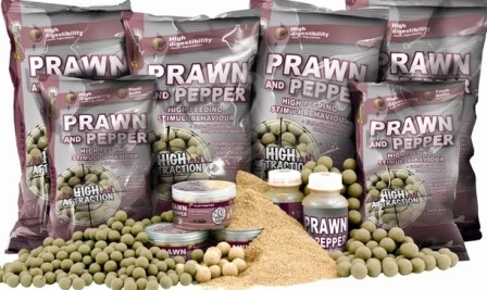 Бойлы Starbaits Prawn & Pepper креветка и перец 10мм 1кг