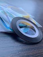 Маникюрная лента-скотч для декора ногтей (цвета в ассортименте), 1 шт.
