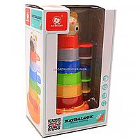 Деревянная развивающая игрушка Top Bright красочная башня, 8 элементов (120322), фото 2