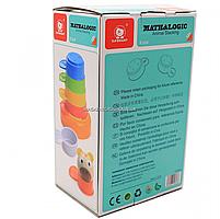 Деревянная развивающая игрушка Top Bright красочная башня, 8 элементов (120322), фото 3
