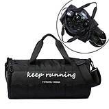 Сумка спортивная для тренировок спортзала бочонок сумка-тубус, цвета, фото 2