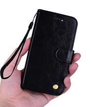 Чохол - книжка Xiaomi Redmi Note 8 з силіконовим бампером і відділенням для карток Колір чорний