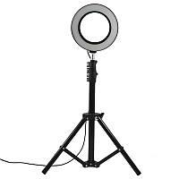 Стойка блогера  YaoYi JY-160 3 в 1 Holder L-140 штатив кольцевая LED лампа 16 см держатель для смартофона