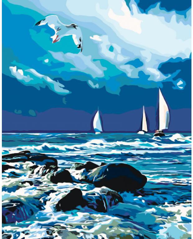 """Картина по номерам """"Бурное море"""" 40*50 см KHO2747"""