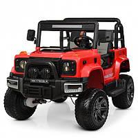 Детский электромобиль Джип Jeep Wrangler М 4178-3 красный для мальчика девочки 3 4 5 6 7 8 лет полный привод