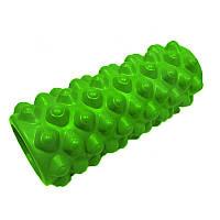 Массажный ролик (валик, роллер) для йоги CF88 Grid Roller Extreme 33 х 14 см Зеленый