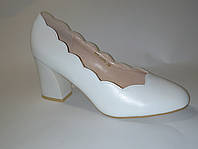 Женские туфли, свадебные белые женские туфли на устойчивом каблуке высота каблкука 5,5 см