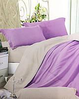Постельное белье евро размер, однотонный комбинированный комплект постельного белья
