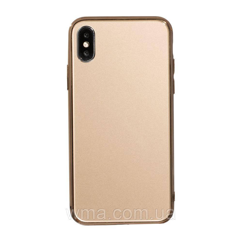 Чехол Case Original Glass for Apple Iphone Xs Цвет Золотой