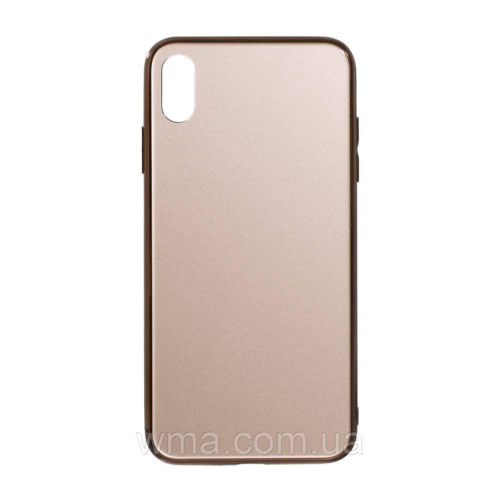 Чехол Case Original Glass for Apple Iphone Xs Max Цвет Золотой