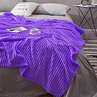 Плед-покрывало шарпей 200*230 фиолетовый